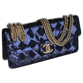 Chanel-Rare Chameleon Bag-Blue,Navy blue,Dark blue