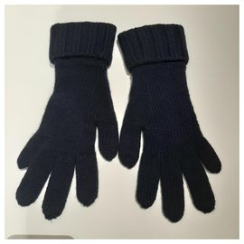 Chanel-Cashmere gloves-Blue