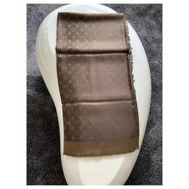 Louis Vuitton-Logomania silk-Brown