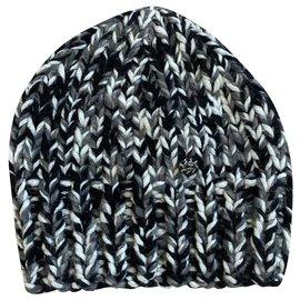Chanel-Hats-Black,White,Grey