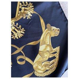 Hermès-Silk scarves-Black