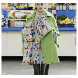 Chanel-Chanel 2014 Supermarket Runway Wool Coat  Sz. 36-Light green