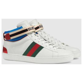 Gucci-GUCCI ACE SNEAKERS NEW-White