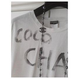 Chanel-Tag Chanel Tee Shirt-White