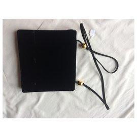 Yves Saint Laurent-black velvet-Black