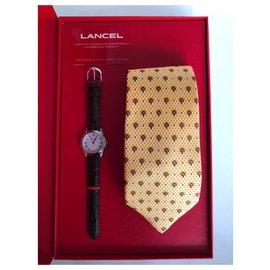 Lancel-Lancel Watch and Lancel Tie Box-Silvery