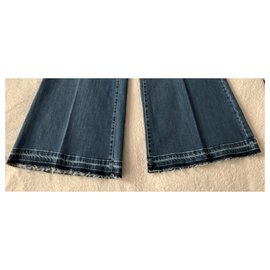 Autre Marque-Pantalon en jean évasé Liviana Conti-Bleu