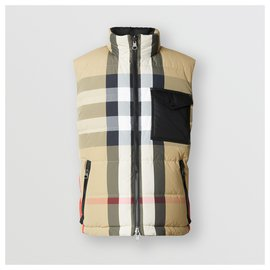 Burberry-burberry Reversible Recycled Nylon Re:Down® Puffer Gilet size L-Black,Multiple colors