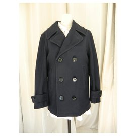 Burberry-Burberry Men's XXL Coat-Navy blue