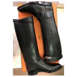 Hermès-Hermès Riding Boots-Black