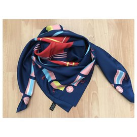 Chanel-Chanel scarf-Navy blue