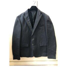 Just Cavalli-Blazers Jackets-Dark grey