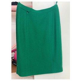 Chanel-Skirts-Dark green
