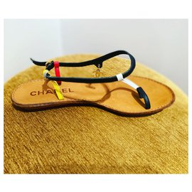 Chanel-Sandals-Black,Red,Yellow