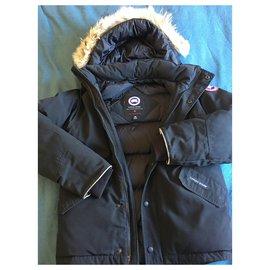 Canada Goose-Manteaux de garçon-Noir