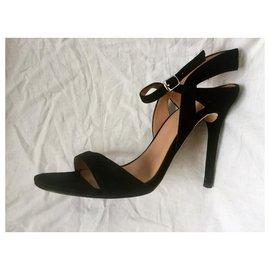 Halston Heritage-Halston Heritage evening sandals-Black