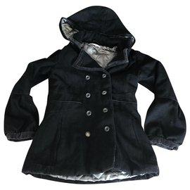 Autre Marque-Girl Coats outerwear-Black,Silvery