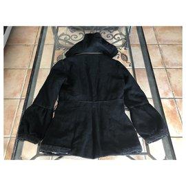 Autre Marque-Manteaux fille-Noir,Argenté