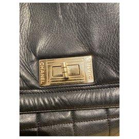 Chanel-Handbags-Black,Silver hardware