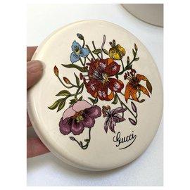 Gucci-Ceramic Flora Jar-White