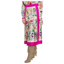 Gucci-Jupe mi longue Gucci-Multicolore
