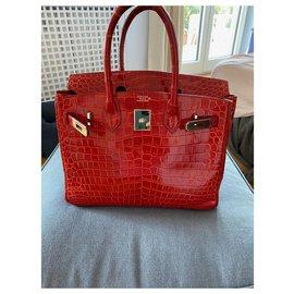 Hermès-HERMES BIRKIN 30-Red