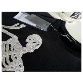 Alexander Mcqueen-Dancing Skeleton-Black,Cream