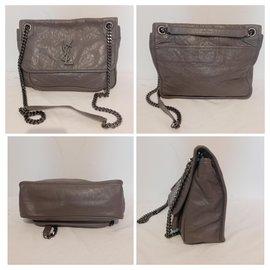 Yves Saint Laurent-Handbags-Grey,Taupe