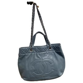 Chanel-Handbags-Light blue