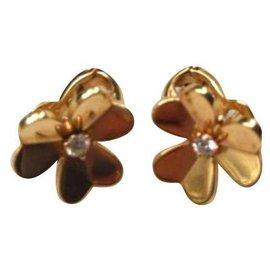 Van Cleef & Arpels-Petites boucles d'oreilles Frivole or Van Cleef & Arpels-Doré
