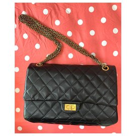 Chanel-Chanel 2.55 Reissue 225 classic bag-Black