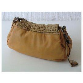 Céline-Céline Leather Hand Bag-Mustard