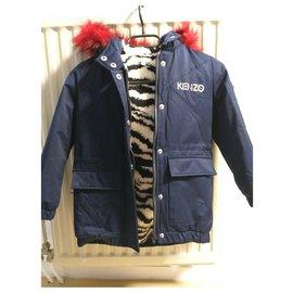 Kenzo-Girl Coats outerwear-Navy blue