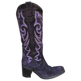 Free Lance-Free Lance boots model Queenie p 36-Purple