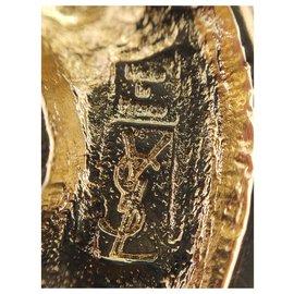 """Yves Saint Laurent-""""Arabesque"""" scarf ring-Gold hardware"""