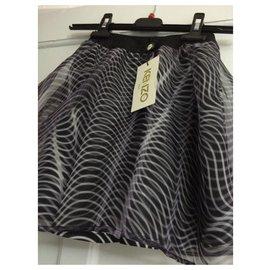 Kenzo-Skirts-Black,White