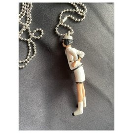 Chanel-Long necklaces-Black,White