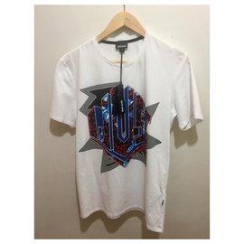 Just Cavalli-Just Cavalli Logo T-shirt size M-White,Multiple colors
