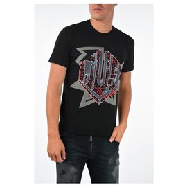 Just Cavalli-Black logo motif Just Cavalli T-shirt size M-Black,Multiple colors