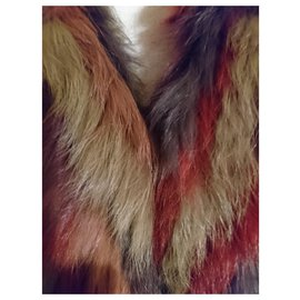 Antik Batik-Knitted Rabbit Fur Vest-Multiple colors