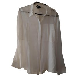 Dkny-Chemise DKNY en soie neuve-Blanc