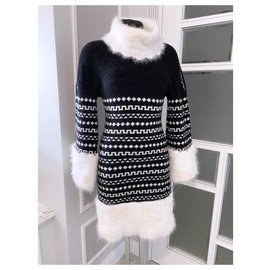 Chanel-tender angora dress-Black