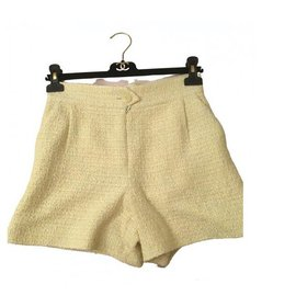 Chanel-Shorts-Yellow