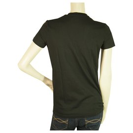 Dsquared2-Dsquared2 D2 T-shirt noir à manches courtes et encolure en V Womans - Taille S / 40-Noir