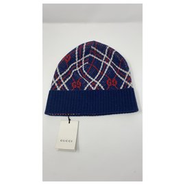 Gucci-GUCCI WOOL HAT BRAND NEW-White,Red,Blue