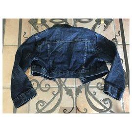 Diesel-Manteaux fille-Noir,Bleu,Bleu foncé