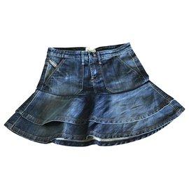 Diesel-Skirts-Blue,Light blue,Dark blue