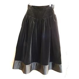 Yves Saint Laurent-Skirts-Black