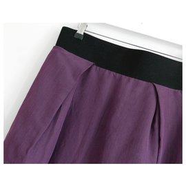 Lanvin-SS06 Jupe en papier / soie-Violet
