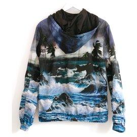 Givenchy-Blue Hawaiian Windbreaker-Blue